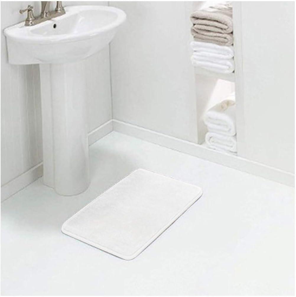 24 x 17in, Black Elospy Memory Bath Mat Anti Slip Bath Rugs with Strong Absorbent Machine Washable Soft Shower Rug Dry Fast Design for Bathroom Floor Mat Carpet