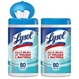 Lysol Disinfecting Wipes, Ocean Fresh, 160ct (2X80ct) (3 Pack (160 Count))