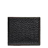 Coach Double Billfold Wallet in Buffalo Embossed Black Leather - F12021