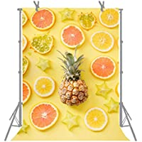 FUERMOR Customized Photo Background 5X7FT Fresh Lemon And Pineapple Photography Backdrop Photo Shooting Props N175