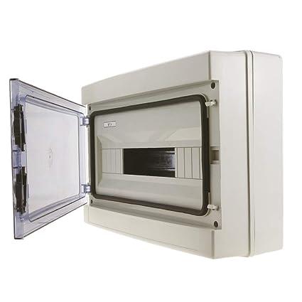 Cablematic - Caja de distribución eléctrica SPN 18M IP65 de superficie de plástico ABS HA