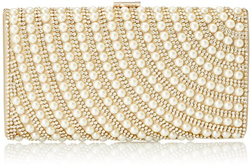 MG Collection Ivonne Pearl Evening Bag Gold One Size