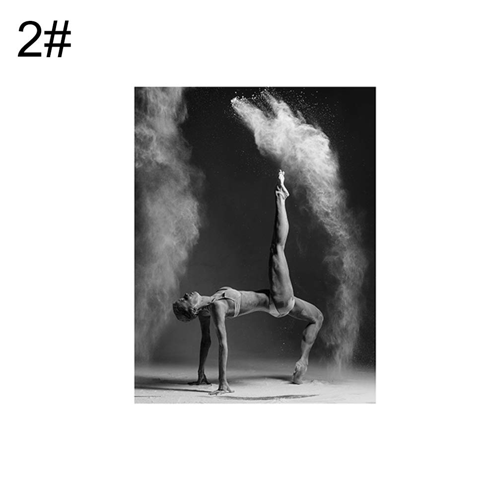 856store Creative Nordic Dancer Painting Poster Wall Picture Home Bedroom Living Room Decoration - 2# 21x30cm