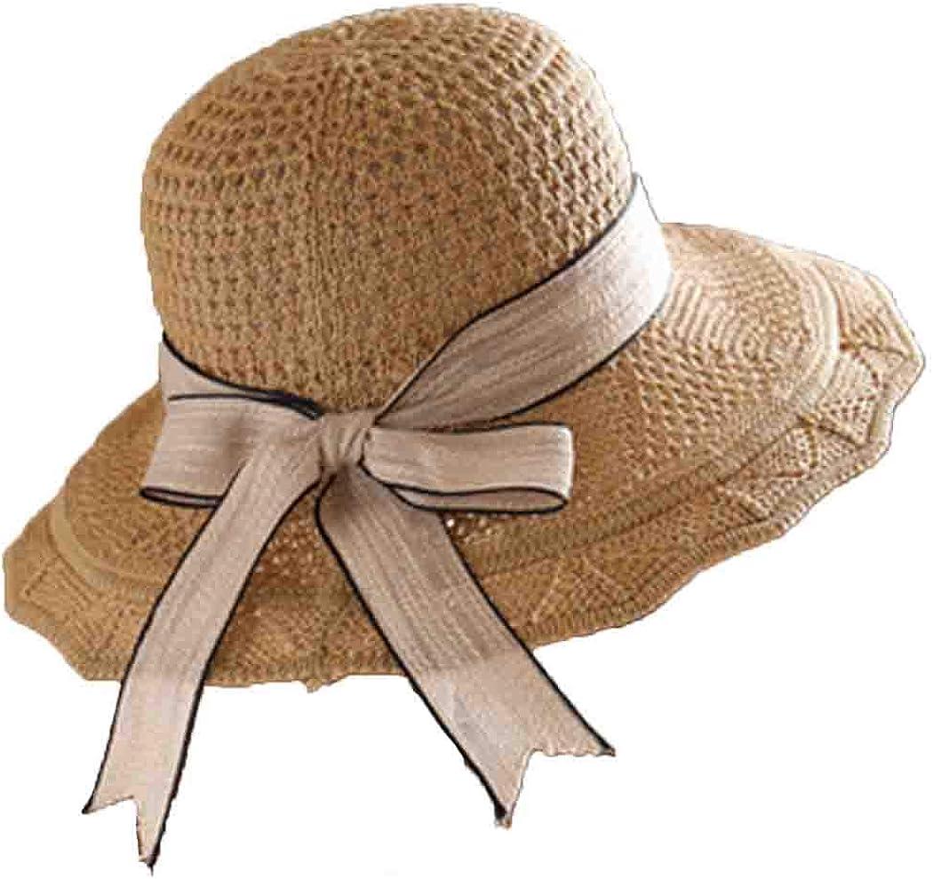 Women Knit Lace Sun Hat Summer Beach Fedoras Travel Hat