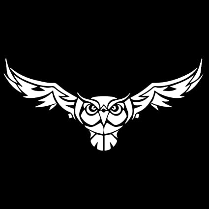 Amazoncom Tribal Owl Wings Silhouette 6 Vinyl Sticker Car Decal