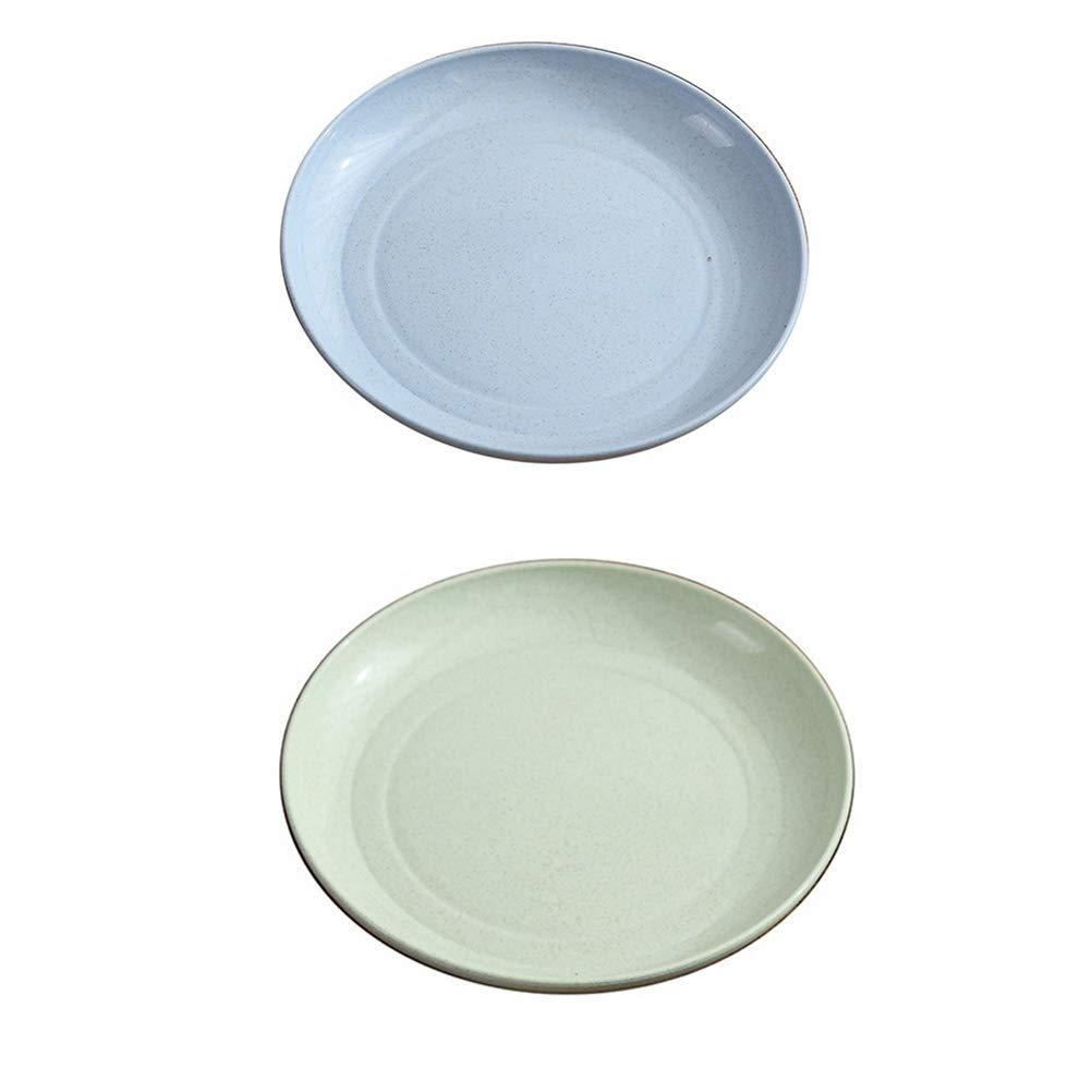 BESTONZON 5pcs Set Placas de Paja de Trigo en vajillas seguras ecol/ógicas de Varios Platos Sencillos