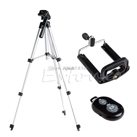Value-5-Star - Aluminium Camera Stand Tripod Holder+Remote