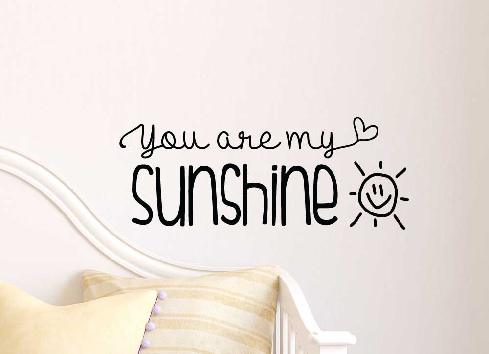 You Are My Sunshine Cute Wall Vinyl Decal Quote Lettering Art Saying Sticker  Stencil Nursery Wall Decor     Amazon.com