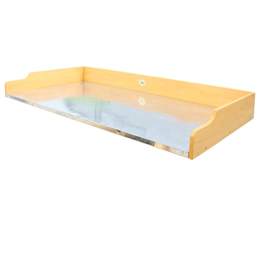 Habau Gartentisch Tischplatte für Hochbeet, Gelb, 119 x 60 x 10,5 cm 2856