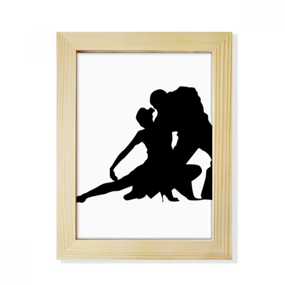 DIYthinker Sports Dancer Duet Dance Performance Desktop Wooden Photo Frame Picture Art Painting 6x8 inch