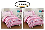 Pack of 2 - Dream Factory Butterfly Dots Bedding Comforter Set