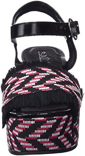 Platform Taike Black Women's Sixtyseven Sandals lexa Florty C40425 Multicolour Rojo 1wH5xpq