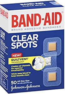 BAND-AID Bandages Clear Spots 50 Each (Pack of 2)
