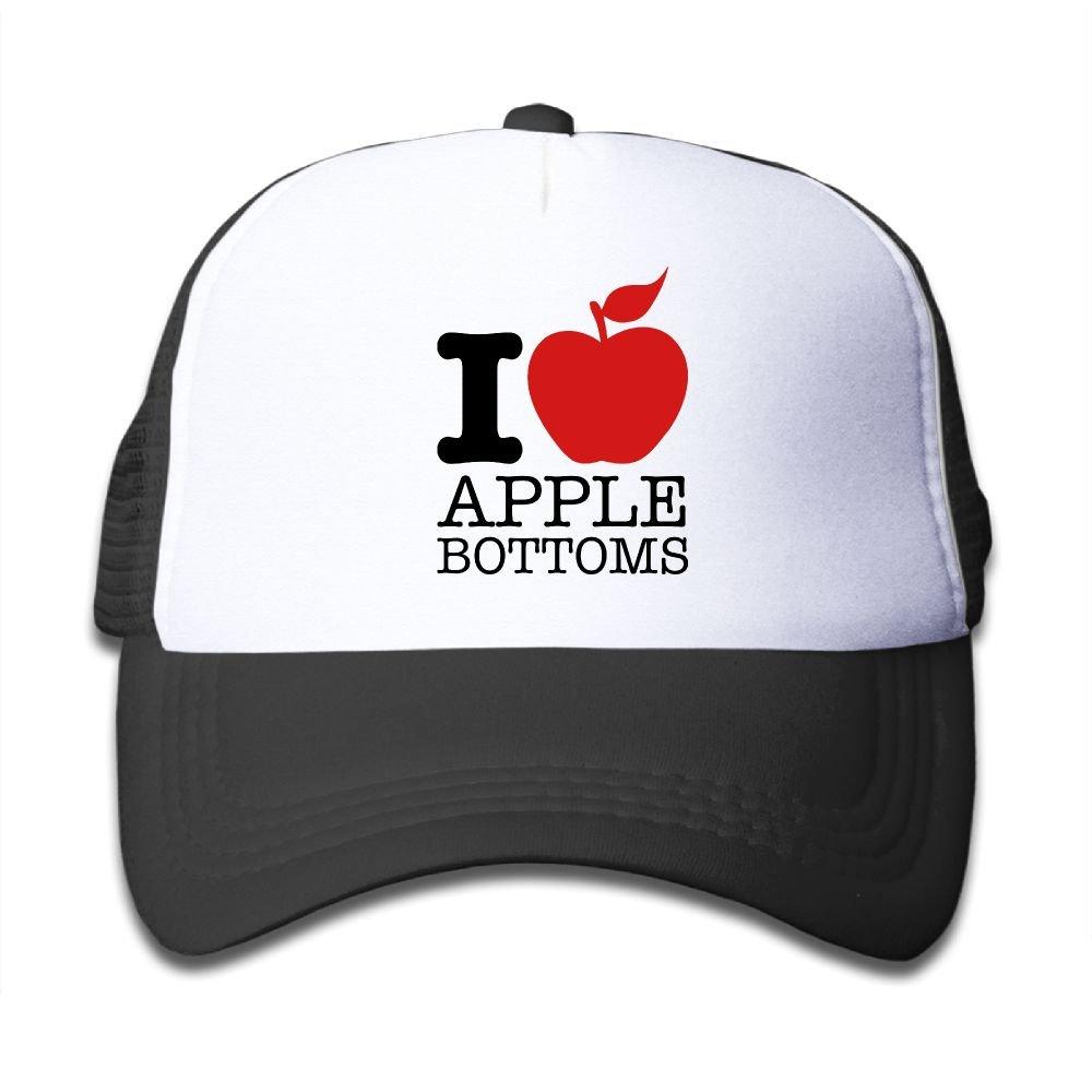 Apple Bottom Love Customized Newest Boys Girls Mesh Cap Trucker Hats Adjustable Hat Caps hdfghdjs