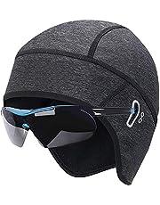 Lveal Thermal Skull Cap Helmet Liner Fits Glasses, Cycling Helmet Cap Stretchable Hat for Men Women, Winter Sports Beanie Hat