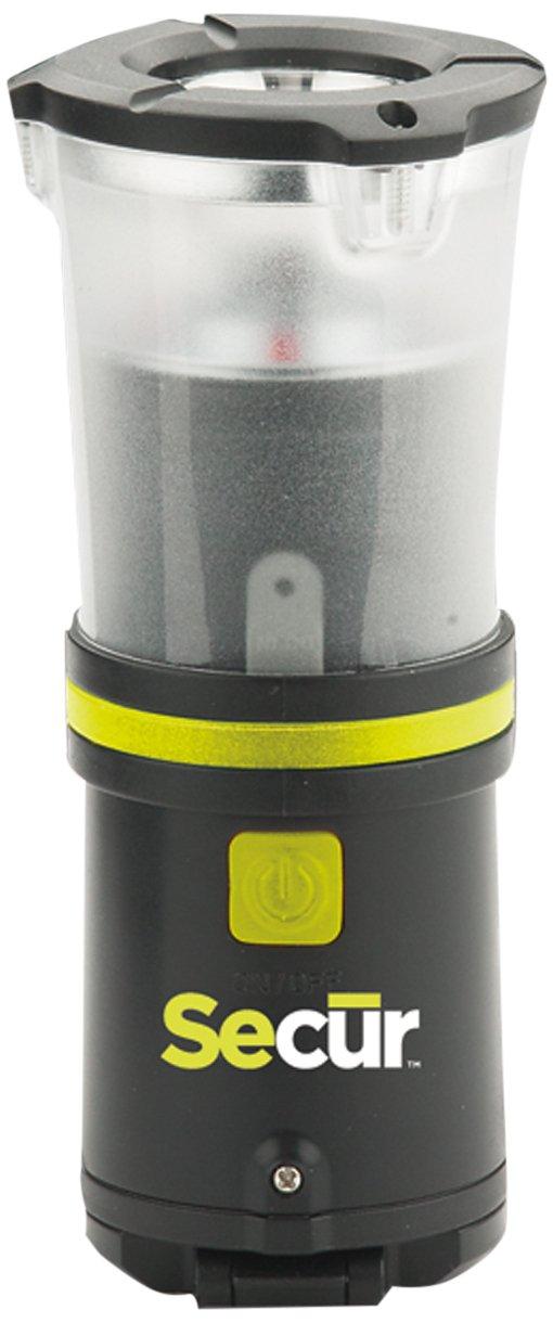 Secur 手動充電 防水 高輝度LED伸縮式ランタン/非常時フラッシュライト。 バッテリー不要。 ハンドルを回してラクラク充電。 キャンプやハイキングなどにピッタリの商品。 B00LU32KHM