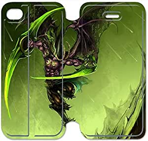 Leather Smart Cover With Flip Stand Phone Case iphone 5 5s-Illidan Stormrage-12