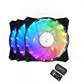 Bykski 3-Pack DC 12V 120MM 12CM 12025 RGB LED Water Cooling Fan Computer Case Fan CPU Fan Rardiator Fan