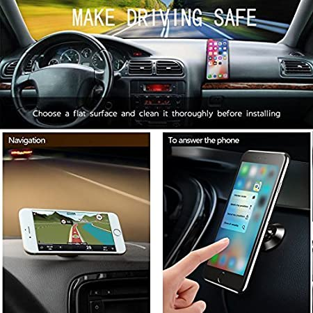Magnetic Air Vent Car Mount Holder Universal Mobile Phone 360 Degree Ratation Cell Phone Cradle Dashboard Mount Hands Free for GPS Device Light Tablets and iPhone X Galaxy S8 and More Molzar