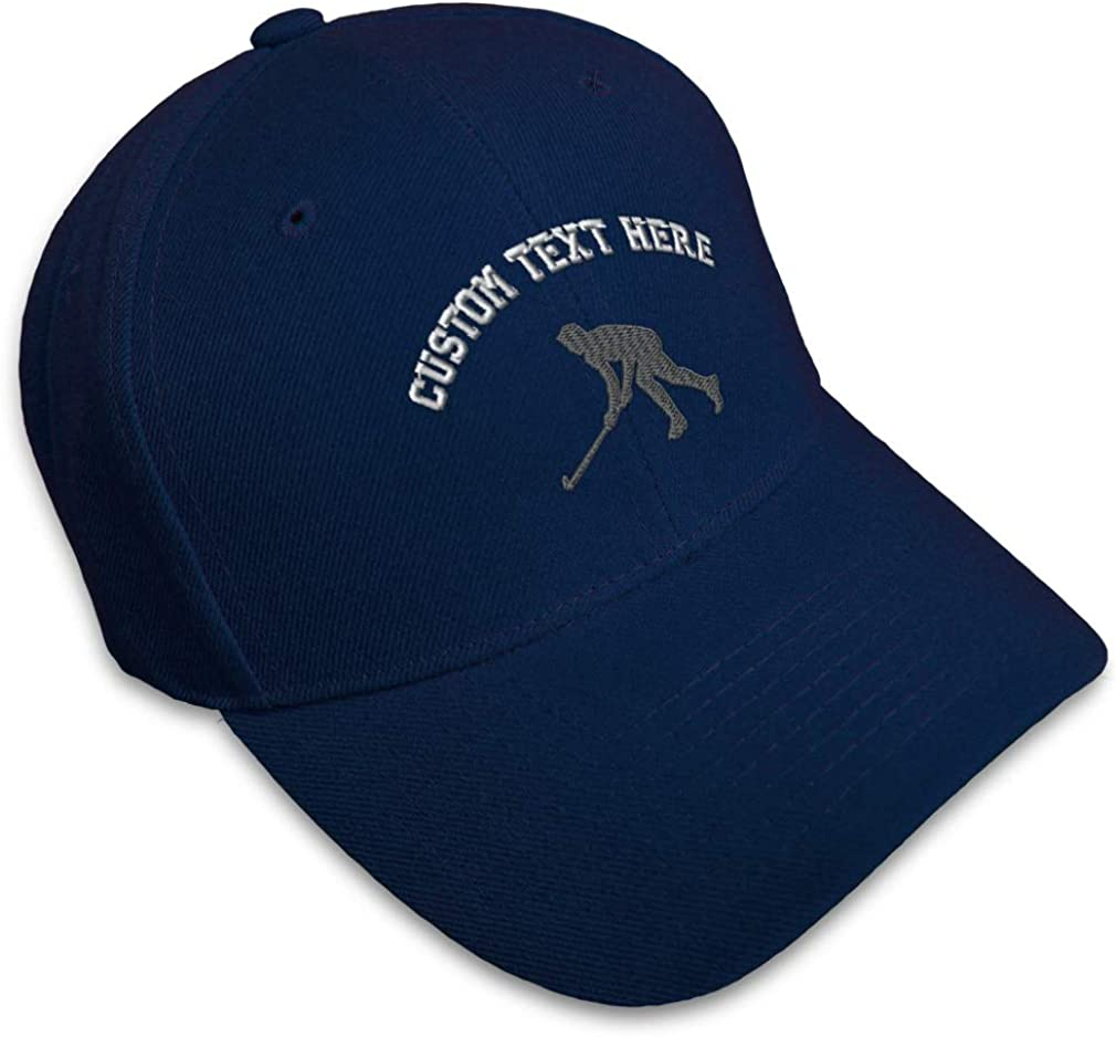 Custom Baseball Cap Man Hockey Player B Embroidery Dad Hats for Men /& Women