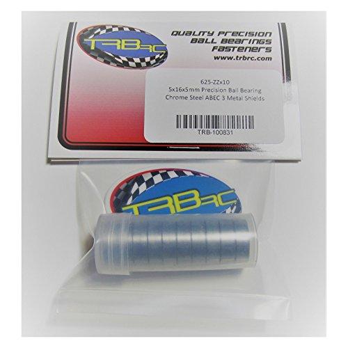 10 5x16x5mm Precision Ball Bearings ABEC 3 Metal Shields 625 ZZ