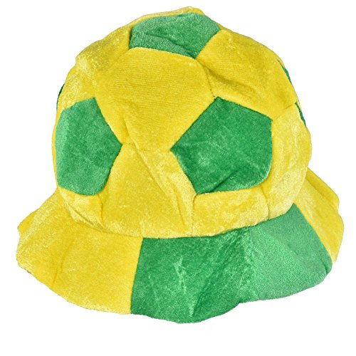Vbestlife World Cup Soccer Hats Fans Party Football Shape Hat Soccer Match Cheering Cap, Multicolor Matching the National (Brazil National Costume Men)
