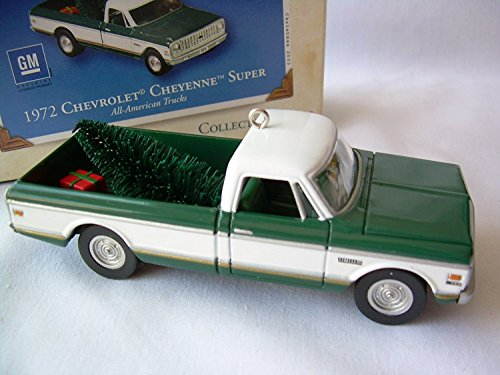 (2003 Hallmark Ornament 1972 Chevrolet Cheyenne Super # 9 Series Die-Cast Metal)