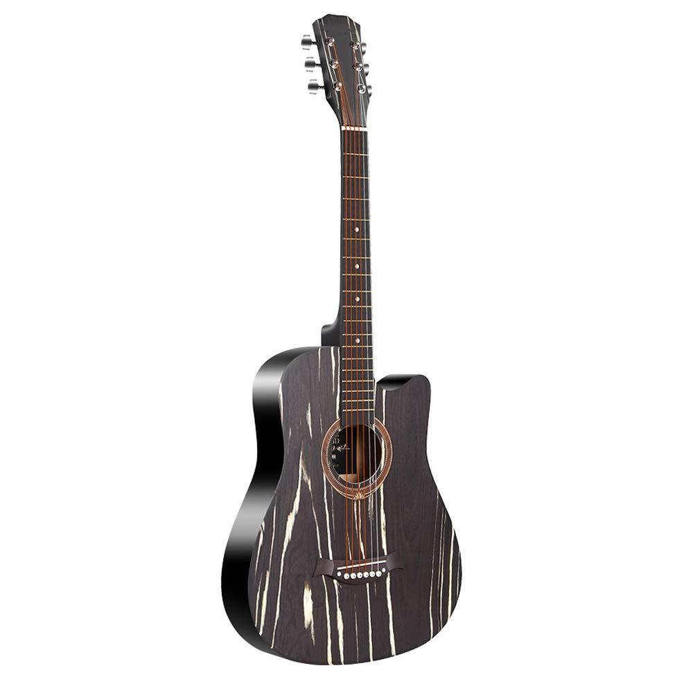 Miiliedy Personalidad Elección Guitarra acústica popular de 38 pulgadas Moda minimalista Adolescente Adulto Masculino Femenino Instrumentos musicales Con ...