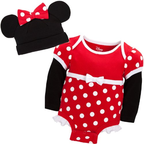 Thumper Bunny Costumes (Disney Store Red Minnie Mouse Onesie Costume Bodysuit/Ears Hat Size 2T / 24 Months)