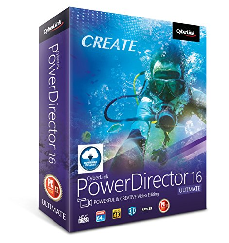 Cyberlink PowerDirector 16 Ultimate: Professional Video Editing Software (Windows Video Editing Software)