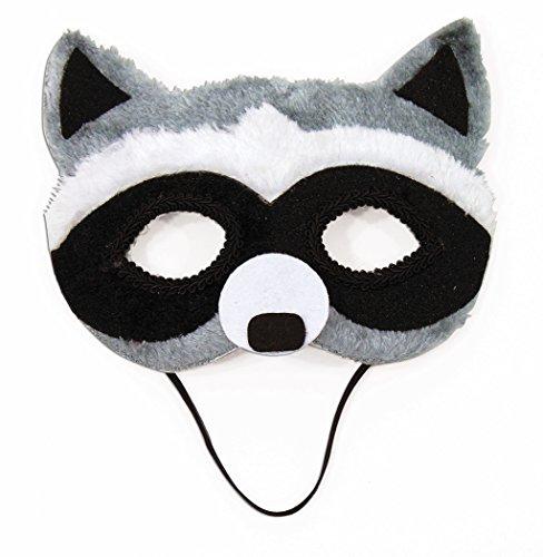 Animal Half Masks (Raccoon Animal Fancy Eye Mask Adult Child Faux Fur Half Costume Accessory)