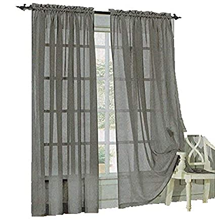 Amazon Com Sheer Curtains Drape Valance 78 X 35 Panel 8 Color
