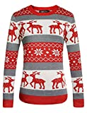 Product review for Camii Mia Women's Reindeer Pullover Crew Neck Ugly Christmas Sweater