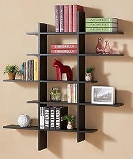 120cm floating shelf shelving black white wood storage retail display bookshelve