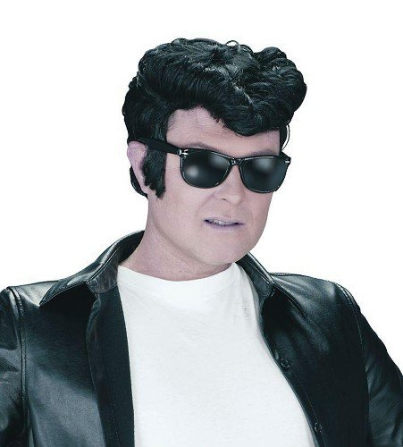 [1950s Grease Rock & Roll Teddy Boy Male Fancy Dress Wig] (50s Wig)