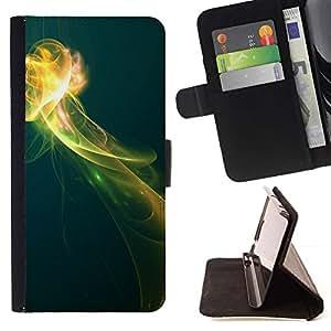 For Samsung Galaxy S6 Case , Humo Bloom Espacio Negro Submarino- la tarjeta de Crédito Slots PU Funda de cuero Monedero caso cubierta de piel