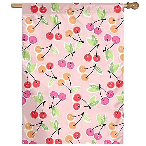 Garden Flag Cherry Drawing Lawn Banner Outdoor Yard Home Flag Wall Decoration Flag 27