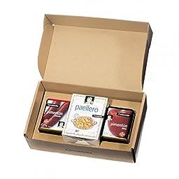 Paellero Paella Seasoning Kit GIFT BOX 15 Packets Carmencita Paella Mix Saffron + Sweet Smoked Paprika + Hot Smoked Paprika - Gluten Free