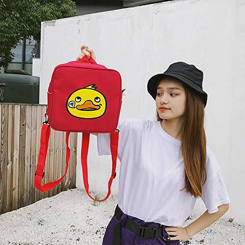 Bags Backpack Student girls Bookbag Backpacks Kids Schoolbag Boys Animal Duck Red Plot wFqH88