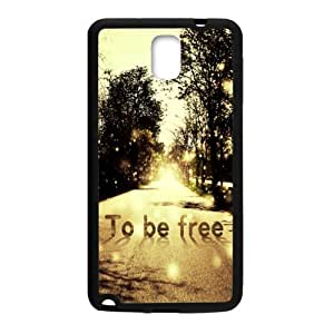 super shining day To Be Free TPU Material Phone Back Case Compatible with Samsung Galaxy Note 3 N9000