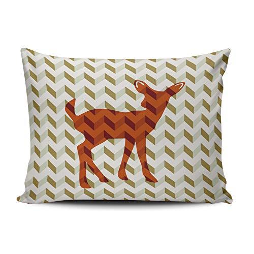 MUKPU Woodland Fawn Home Decor Sofa Pillowcase 16X24 Inch Throw Pillow Case Hidden Zipper Single-Sided Printed