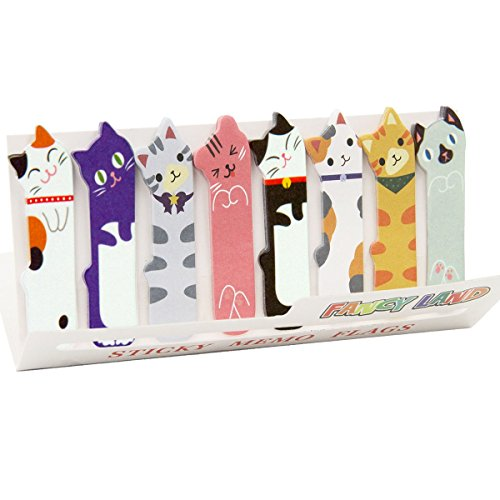 360 Cute Cat Sticky Notes Bookmarks Page Flags Index Tabs for Cat Lovers Kids Office School Reading