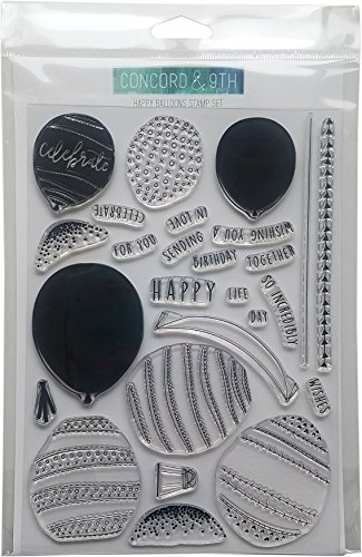"Concord & 9th 10243 Clear Stamps 6""X8""-Happy Balloons"