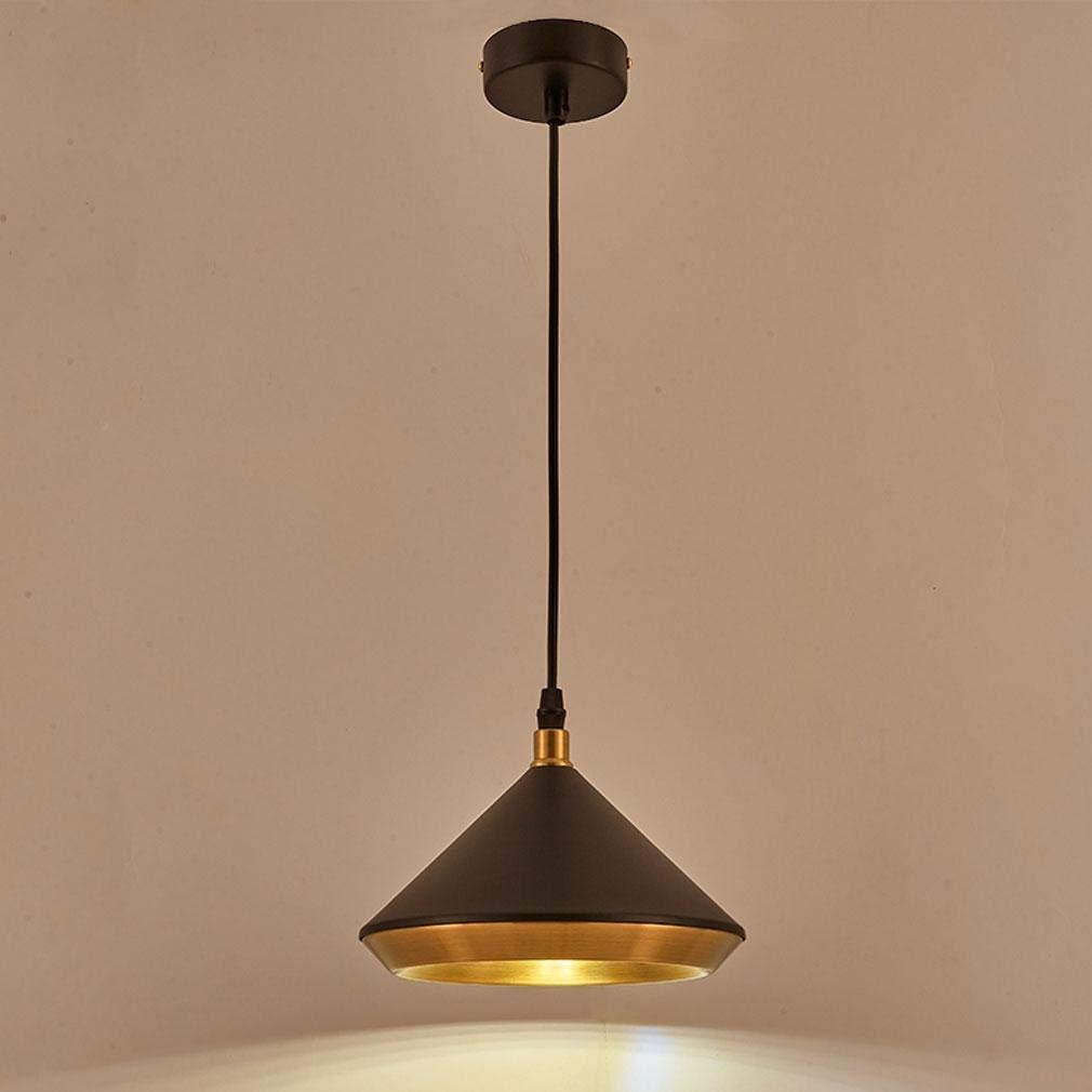 ● Runde Pendelleuchte Modernes Design Schwarze Pendelleuchte 1-Light Kronleuchter Wohnzimmer Esszimmer Schlafzimmer Studie Deckenbeleuchtung Eisen Hoch einstellbare Leuchte Lampe max. 40W E27 Ø18cm