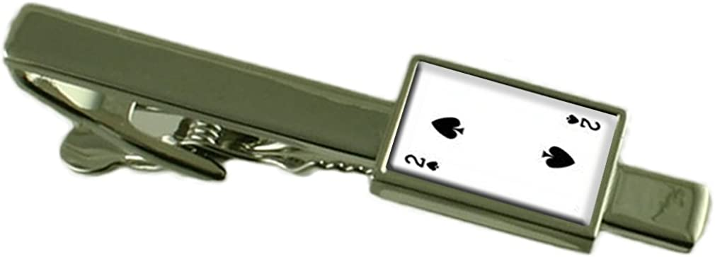 Select Gifts Spades Playing Card Number 2 Tie Clip Pouch