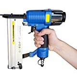 EJWOX 2 in 1 Peneumatic Brad Nailer Stapler/Combi Nailer with Carrying Case & Safety Glasses