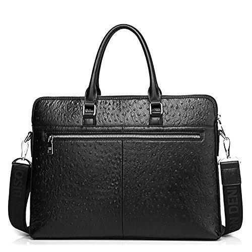 BINSON DENIM Herren Leder Aktentasche Herren Handtaschen Herren Umhängetasche Herren Laptop Tasche Hohe Qualität N2370