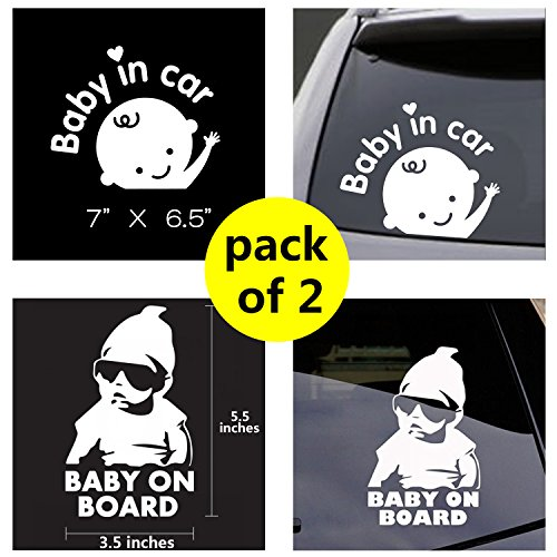 Baby in Car Sticker Decals Safety Signs Baby on Board for Cars 7