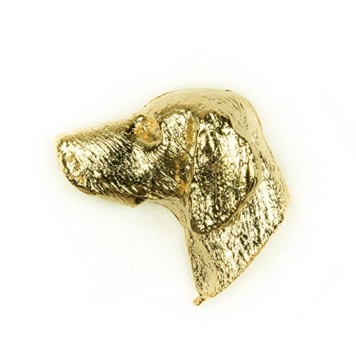 WEIMARANER Made in U.K Artistic Style Dog Clutch Lapel Pin Collection 22ct Gold Plated
