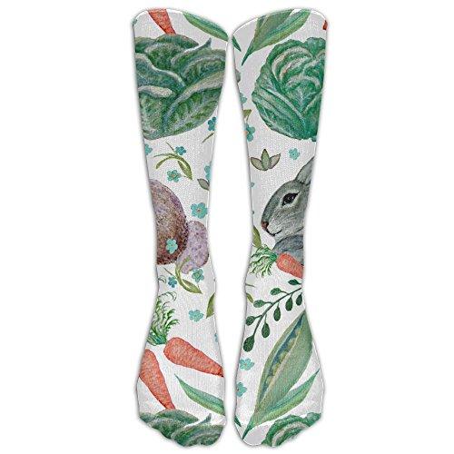 WANGZII Interesting Custom Cotton Vegetable Bunny Watercolor Socks For Unisex